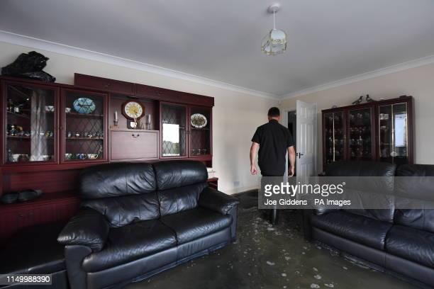 Flood damage in a house in Wainfleet All Saints, in Lincolnshire, where streets and properties are flooded after the town had more than two months of...