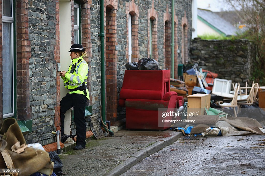 Cumbria Counts The Cost Of Flood Damage As The Water Begins To Recede : Foto jornalística