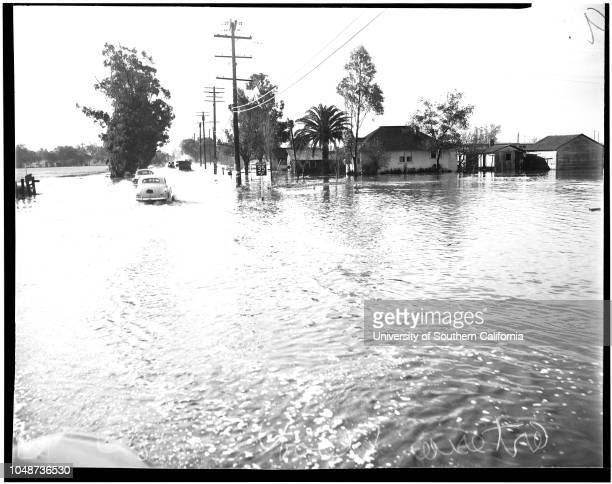 Flood in Artesia and Norwalk Evacuation of victims by Red Cross 18 January 1952 Robert Granlund Red Cross volunteer worker 13110 Fallon Avenue...