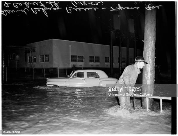 Flood in Van Nuys and Reseda Van Nuys Boulevard and Aetna Street and Sylvan Street in front of City Hall Victims of drowning at 122155 San Fernando...