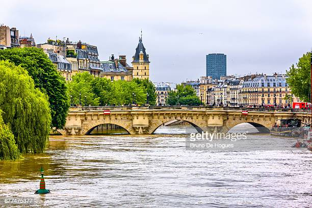 Flood of Seine River in Paris