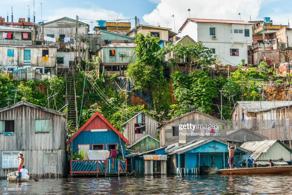 caea695a1a9 Flood Of The Amazon River In Manaus State Of Amazonas Brazil Stock ...