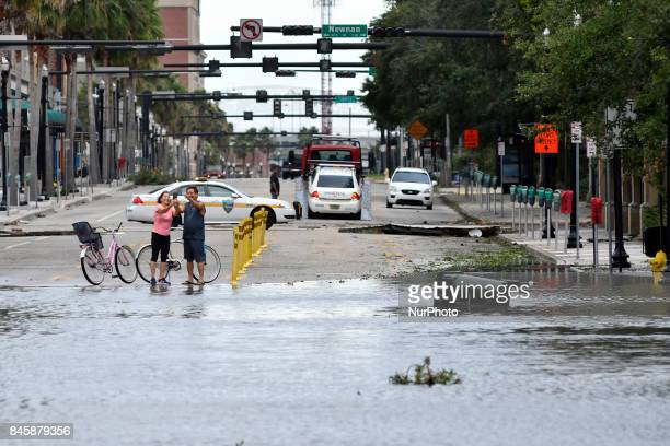 Flood water resides from parts of Jacksonville FL after Hurricane Irma took an unexpected turn and caused massive power outages and coastal flooding...