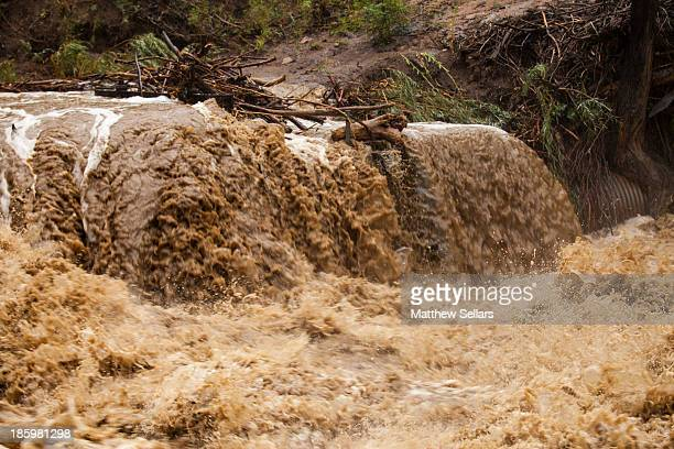 CONTENT] Flood waters rushing over a cement barrier on Boulder Creek during the 2013 Colorado flood This is normally an irrigation wall that sit...