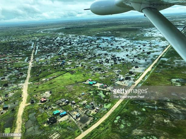 A flooded area outside of Beira Mozambique seen on March 21 2019 The area was hit by unprecedented flooding following the passage of Cyclone Idai