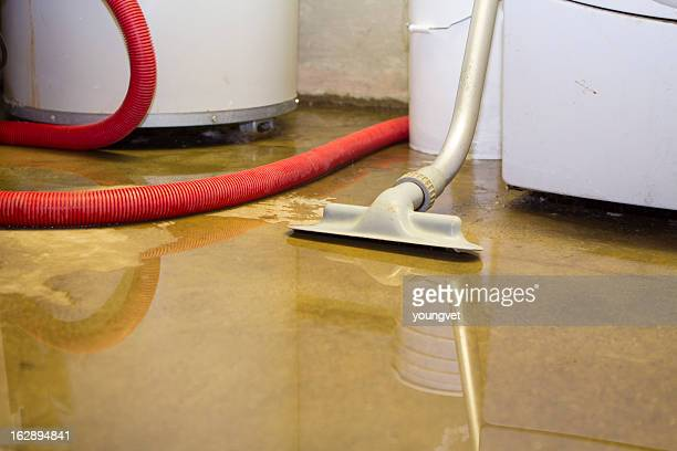 flooded basement cleanup - flooding stock photos and pictures