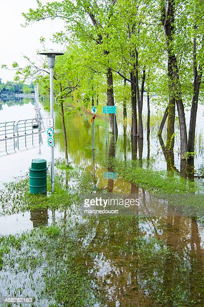 Flooded bicycle path.
