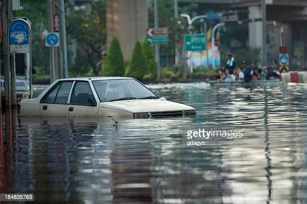 flooded car - flooding stock photos and pictures