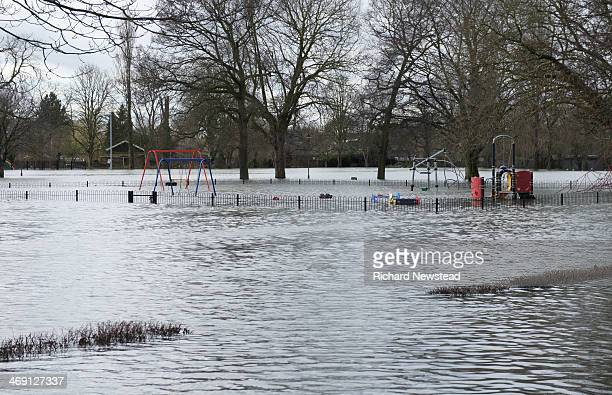 CONTENT] Flooded children's playground and park during the Datchet Floods 11th February 2014