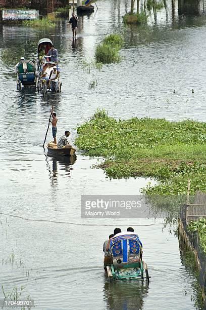 Flooded community of Demra in Dhaka city Bangladesh July 30 2007