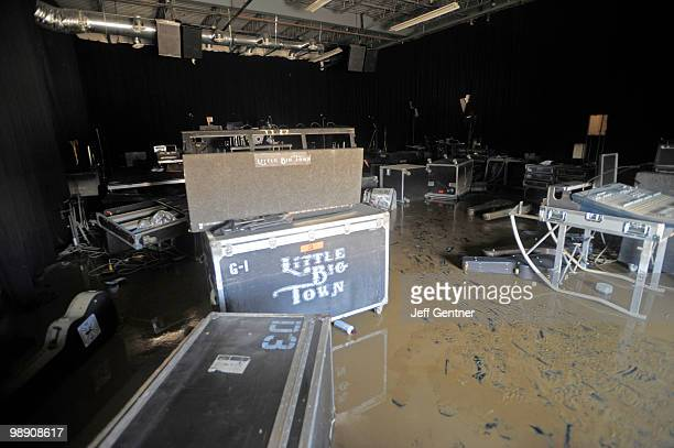 Flooded equiptment belonging to the country music band Little Big Town sits in the city's largest musician equiptment storage faciltiy Soundcheck...
