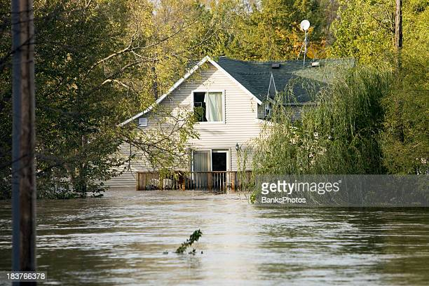 flooded house, following a severe rainstorm - flooding stock photos and pictures