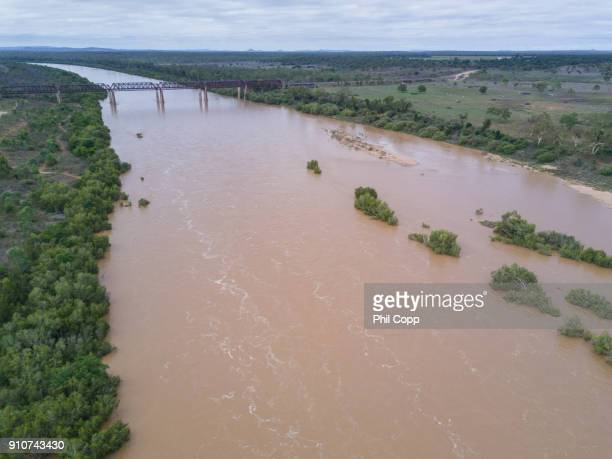 Flooded River Aerial