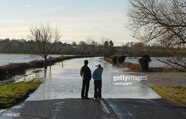 Flooded Road, River Avon #1