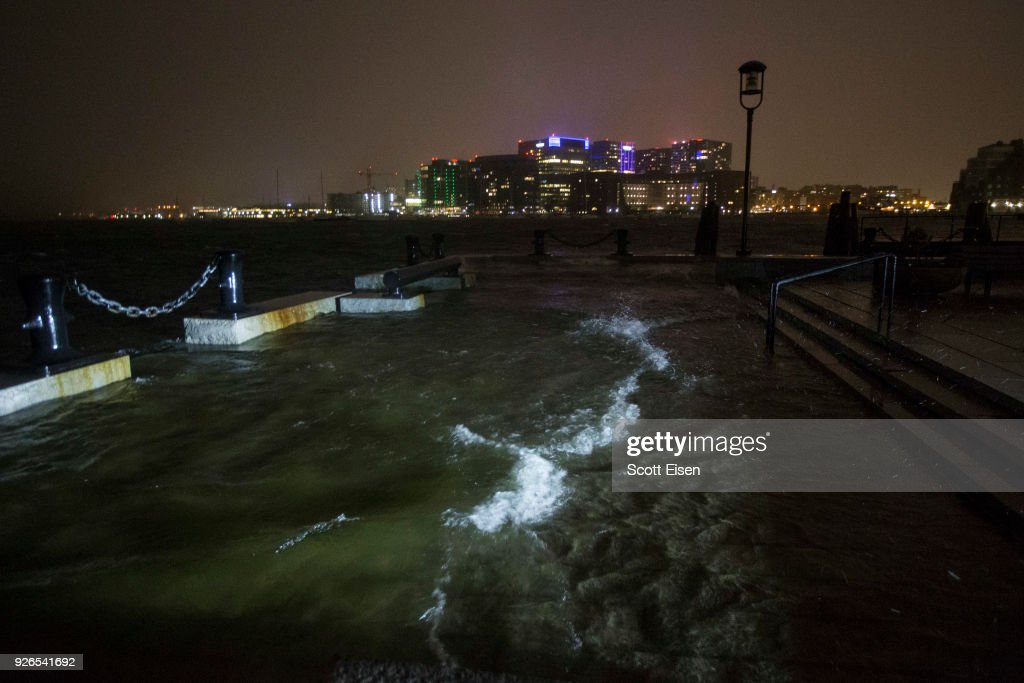 Large Coastal Storm Brings High Waters And Strong Winds To Northeastern Seaboard : News Photo
