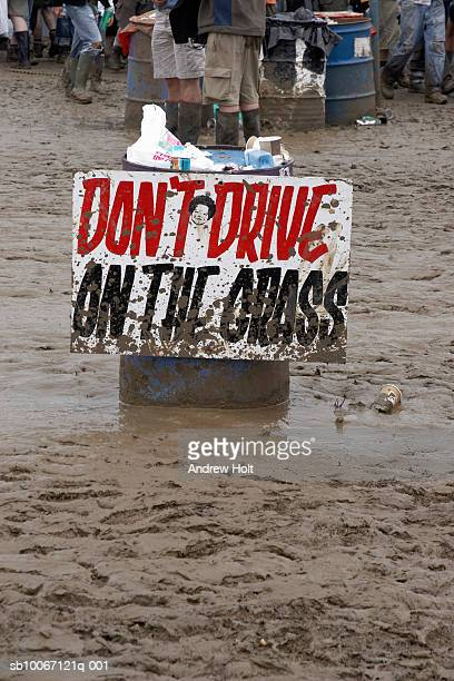 flooding at glastonbury festival - glastonbury stock pictures, royalty-free photos & images
