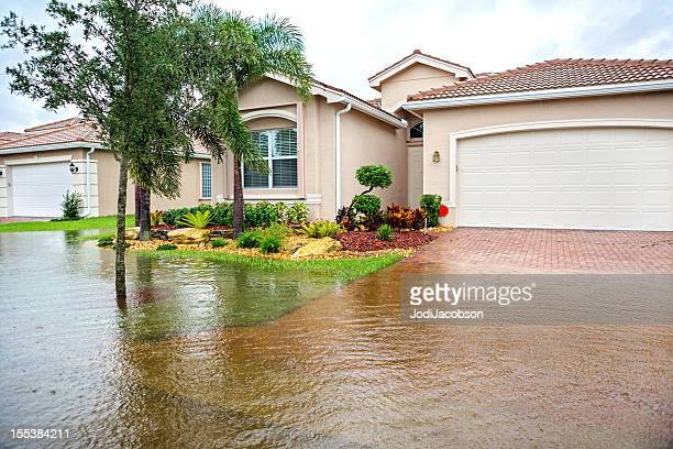 flooding from a hurricane - flooding stock photos and pictures