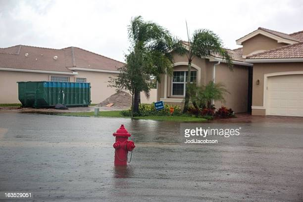 Flooding from a hurricane