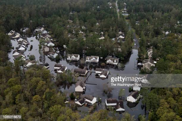 Flooding from Hurricane Florence is seen in Leland NC which is located just outside of Wilmington NC on September 17 2018