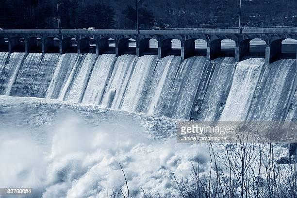 Flooding over Dam