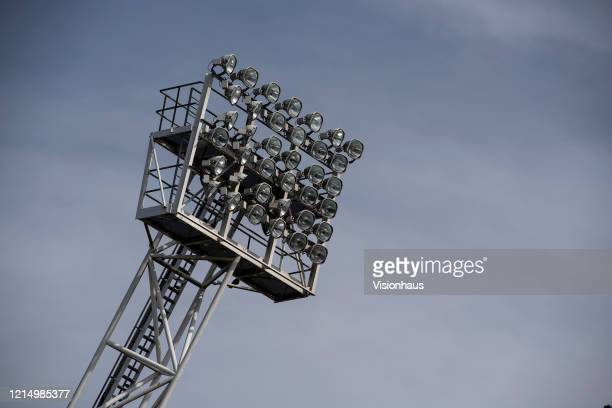 Floodlight pylon at The Hawthorns home of West Bromwich Albion FC on March 23 2020 in West Bromwich United Kingdom