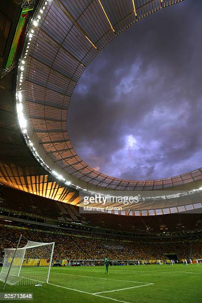 d92b1aa00 Floodlights and a sunset in The National Stadium   Estadio Nacional Mane  Garrincha in Brasilia Brazil