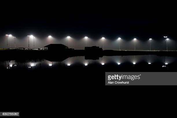 Floodlights at Chelmsford racecourse on December 19 2016 in Chelmsford England