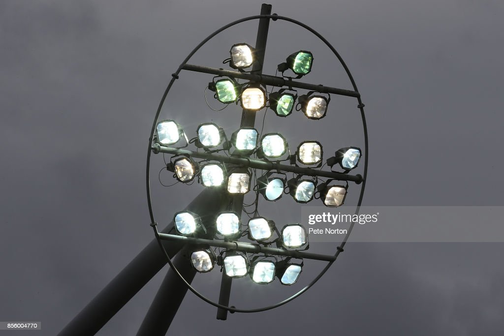 Floodlights during the Sky Bet League One match between Rotherham United and Northampton Town at The Aesseal New York Stadium on September 30, 2017 in Rotherham, England.