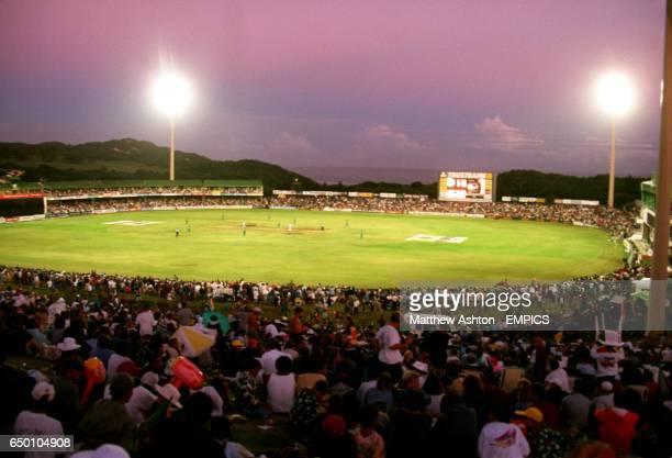 Floodlit cricket at Buffalo Park, East London, South Africa