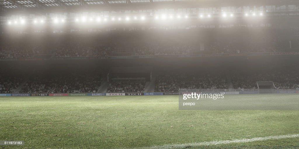 Iluminado por Holofote Stadium : Foto de stock