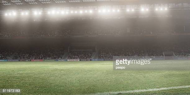 floodlit stadium - stadion stockfoto's en -beelden