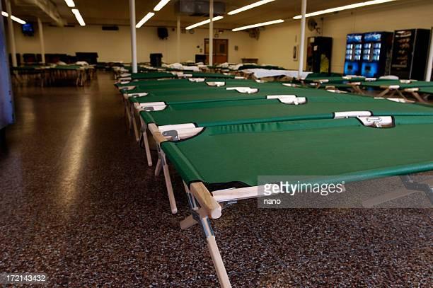 Flood-NJ shelter cots