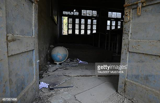 A floodravaged classroom damaged by the recent floods that ripped through Indian Kashmir rendering hundreds of schools unfit for holding classes and...