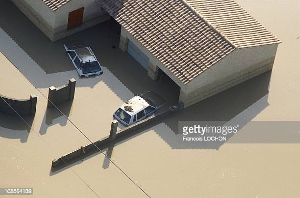 Floods in Bedarrides Vaucluse in France on September 23rd 1992