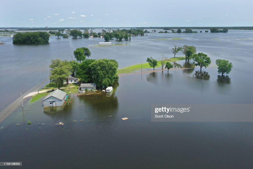 Floodwater From The Mississippi River Rises Around A Home On June 1 News Photo Getty Images