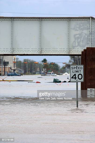 Floodwaters are nearly seven feet deep in Port Arthur Tex after the town which is located on the western bank of Sabine Lake on the TexasLouisiana...