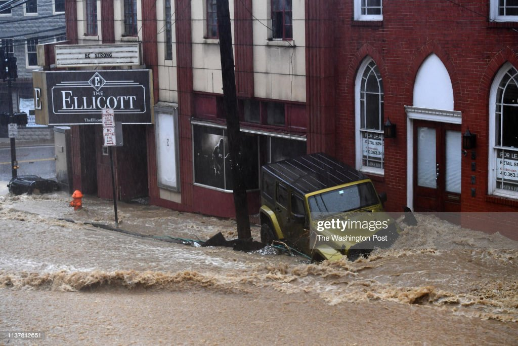 Ellicott City faces another Flash Flood Emergency after drenching rain for several hours : News Photo