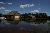 richwood tx floodwaters surround homes richwood