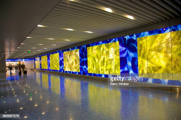 Floor and wall that were commissioned for Phoenix airport