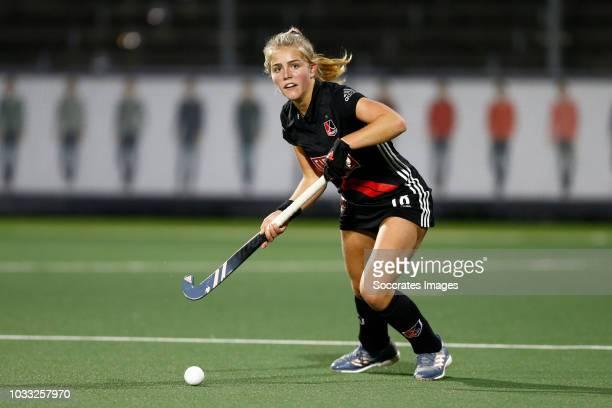 Floor de Haan of Amsterdam Dames 1 during the Hoofdklasse Women match between Amsterdam v Pinoke at the Wagener Stadium on September 14 2018 in...