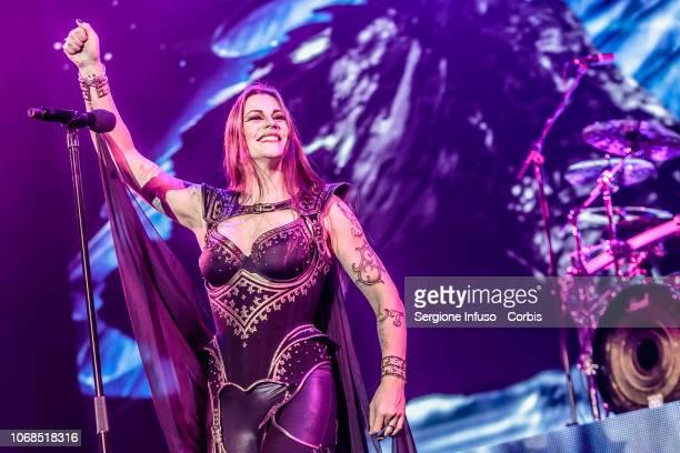 Floor Jansen of Nightwish performs on stage at Mediolanum Forum on December 4, 2018 in Milan, Italy.