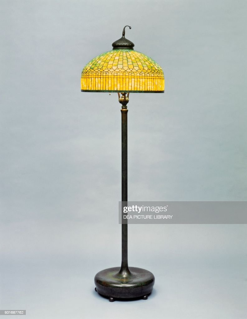 Floor lamp, by Tiffany and Co, New York Pictures | Getty Images