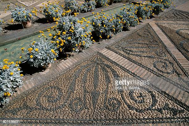 Floor mosaic Patio de Columnas Viana Palace Museum Cordoba Andalusia Spain 16th century