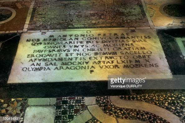Floor of a church in Rome, Italy - Catholic Christian