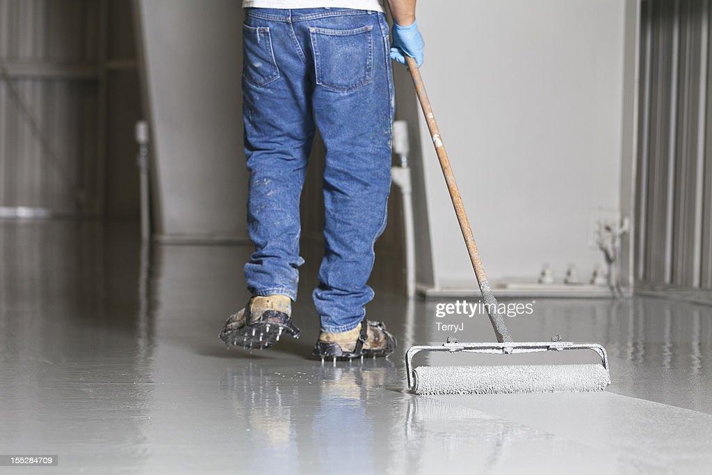 Floor Painting : Stock Photo