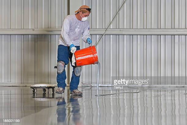 floor painting - flooring stock photos and pictures