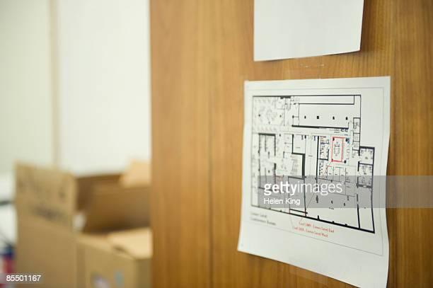 Floor Plan on Office Door