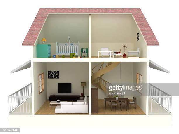 Plan d'étage avec un Tracé de détourage