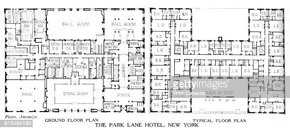 hotel floor plans. Floor Plans, The Park Lane Hotel, New York City, 1924 Pictures   Getty Images Hotel Plans F