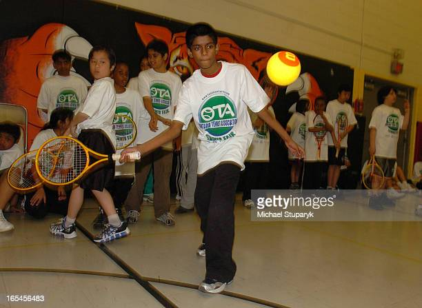 Floor Tennis program launched by Toronto Catholic District School Board media preview at St Lawrence Catholic Elementary School on Lawrence Ave E at...